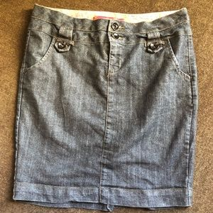 2/$15 One 5 one women's jean skirt size large